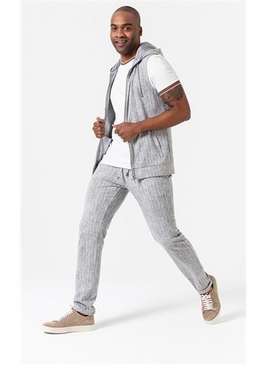 Boris Becker Kapüşonlu Erkek Sweatshirt Gri